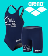 Arena Make a Splash Gear. 10% of each purchase will benefit the USA Swimming Foundation