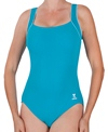 TYR Polyester Square Neck Tank with Piping