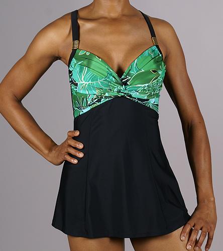 Carol Wior Emerald Bay Twist Front Swim Dress At