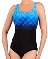 Reebok Fitness Swim Underwater Plaid U-Back