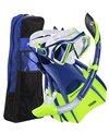 U.S. Divers Admiral LX/Island Dry/Trek/Travel Bag Mask, Snorkel, and Fin Set