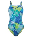 The Finals Funkies Paradise Garden Floral Butterfly Back One Piece Swimsuit