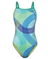 The Finals Funkies Spirograph Butterfly Back One Piece Swimsuit