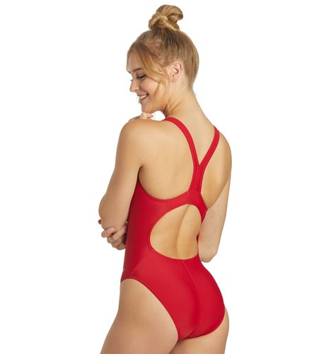 fe1b6271bb Sporti Solid Wide Strap One Piece Swimsuit at SwimOutlet.com