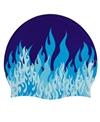 Sporti Fast Flames Silicone Swim Cap