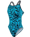 Nike Swim Angled Lanes Spider Back One Piece Tank Swimsuit