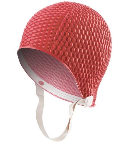 Sporti Bubble Swim Cap With Chin Strap At Swimoutlet Com