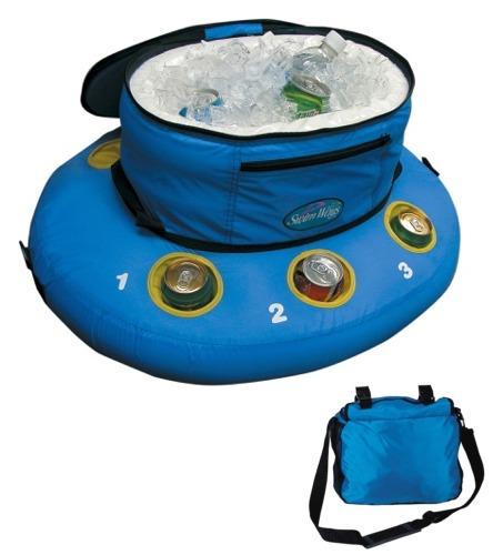swim ways stowable tundra floating cooler at. Black Bedroom Furniture Sets. Home Design Ideas