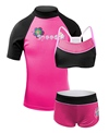 Speedo Duo Back Rash Guard Camkini Set 3 Pc.