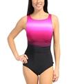 Reebok Fitness Swim Elite Ombre Stripe U-Back