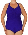 Penbrooke Krinkle Plus Size X-Back One Piece