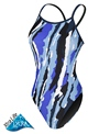 Sporti Paint Collage Thin Strap Swimsuit