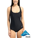 Sporti Moderate Solid Swimsuit