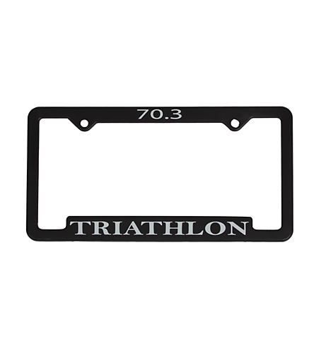 Bay Six 70.3 Triathlon License Plate Frame at SwimOutlet.com