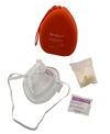 KEMP AMBU CPR Pocket Mask w/O2 Inlet & Kit