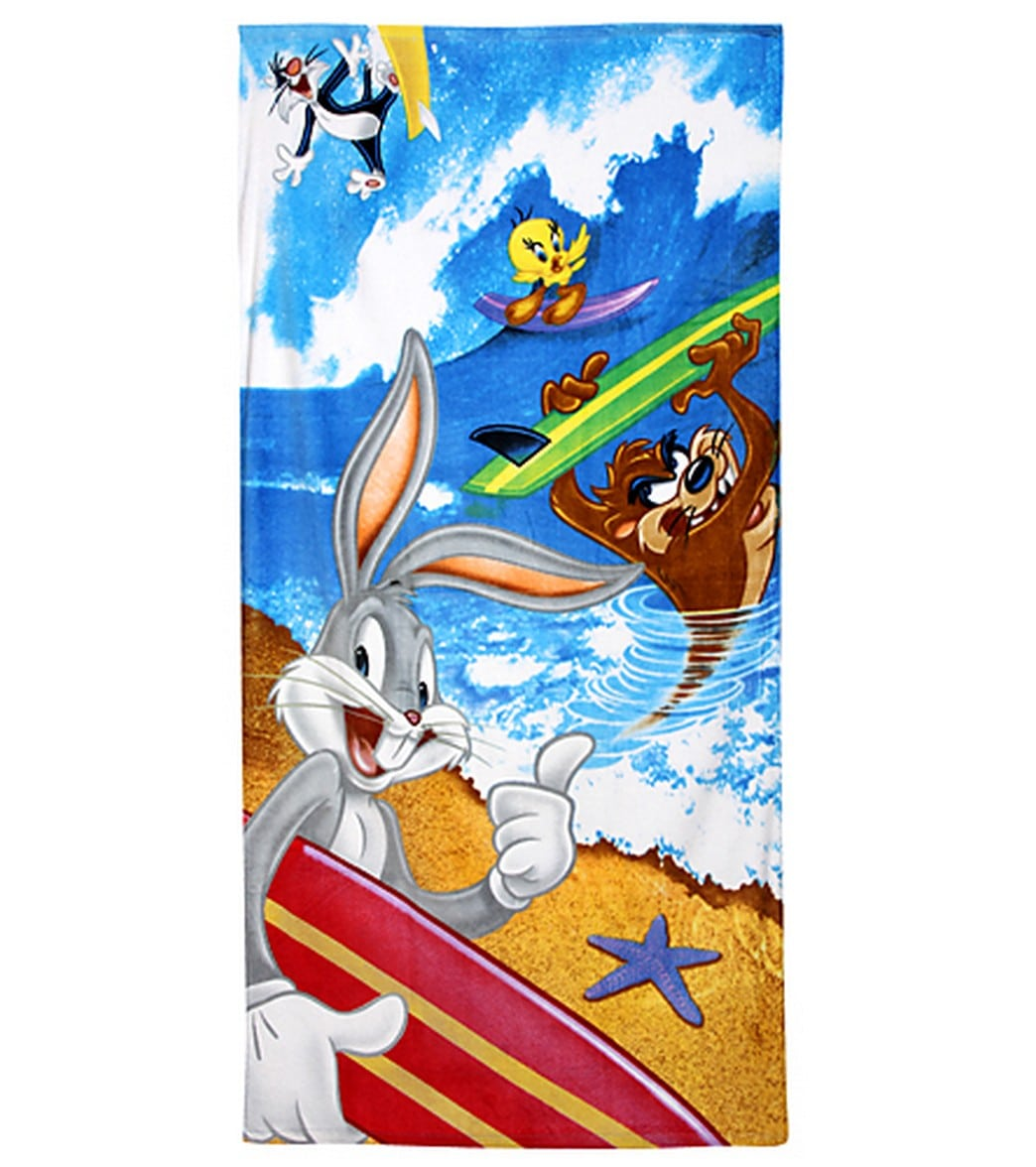 beach towel.  JP Imports Looney Tunes Surf Beach Towel at SwimOutlet com