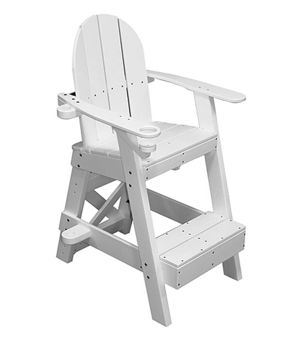 Nice Tailwind Recycled Plastic Lifeguard Chair W/Step At SwimOutlet.com   Free  Shipping