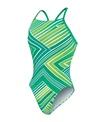Nike Swim Zig Zag Cut Out Tank One Piece Swimsuit