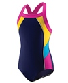 Speedo Girls' Colorblock Splice 1 Piece
