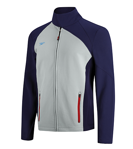8e38558527 Team Speedo Male Warm Up Jacket (Americana) at SwimOutlet.com - Free  Shipping