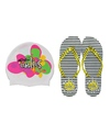 Dolfin Uglies Women's Flip Flop and Swim CapKit
