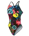 Nike Swim Ink Floral Cut Out Tank