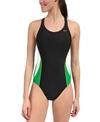 Nike Swim Team Color Block Power Back Tank One Piece Swimsuit