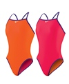 Nike Swim Reversible Solids Classic Lingerie Tank One Piece Swimsuit