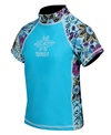 Tidepools Girls' Topsy Turvy S/S Rash Guard (Toddler, Little Kid, Big Kid)