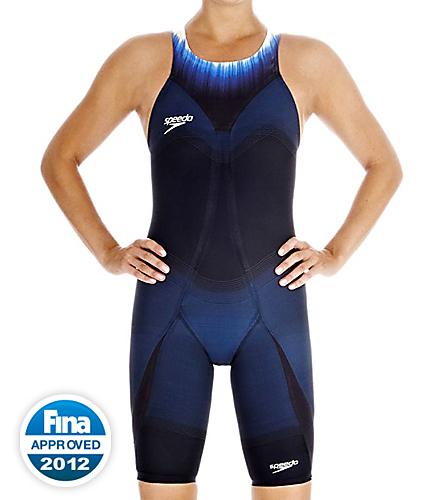 61a0aa908cf99 Speedo Fastskin3 Super Elite Recordbreaker Kneeskin Tech Suit Swimsuit Open  Back Tech Suit Swimsuit