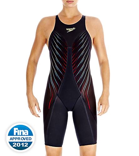 2b5d51be0a624 Speedo Fastskin3 Elite Recordbreaker Kneeskin Tech Suit Swimsuit Open Back  Tech Suit Swimsuit