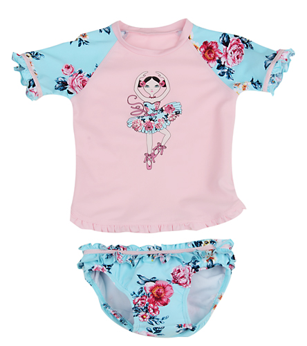 aa20173fbc Seafolly Girls' Rococo Rose Baby Rash Guard Set (3mos-3yrs) at  SwimOutlet.com