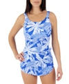 Penbrooke Top Palm Mastectomy Scoop Neck Sarong One Piece