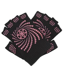 Gaiam Super Grippy Yoga Gloves W/ Pink Dots