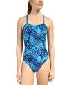 Speedo Toxic Tie Dye Flyback One Piece Swimsuit