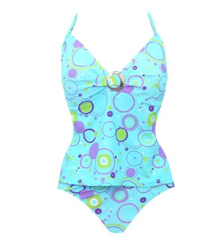 ddd01daa1c Carol Wior Slimsuit Two-Piece Bubble Tankini at SwimOutlet.com - Free  Shipping