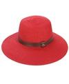 Sun N Sand Kalliste Faux Leather Trim Straw Hat