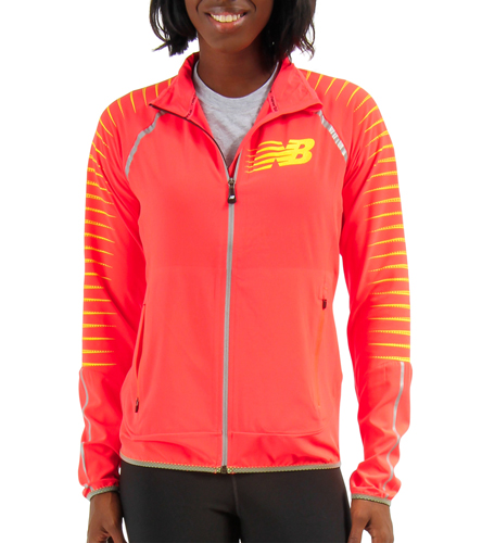 hot sale online 77d8c 8e129 New Balance Women's Hi-Viz Beacon Running Jacket at SwimOutlet.com - Free  Shipping