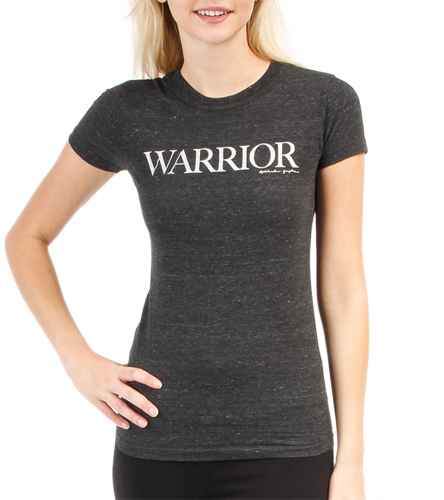 spiritual gangster warrior triblend black tee at
