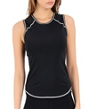 Girls4Sport Sleeveless Black Rashguard With Shelf Bra
