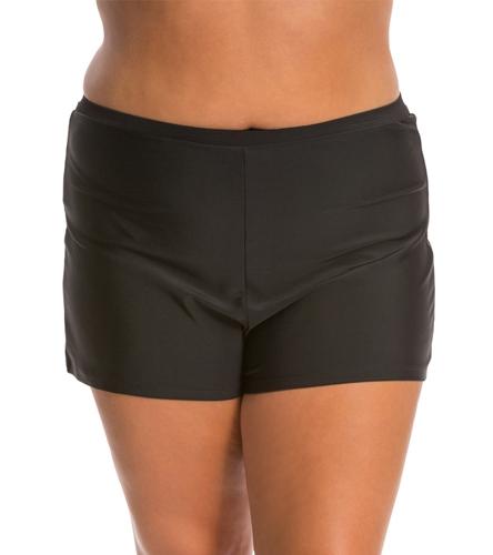 Jag Swimwear Solid Boyleg Bikini Bottom - SwimOutletcom