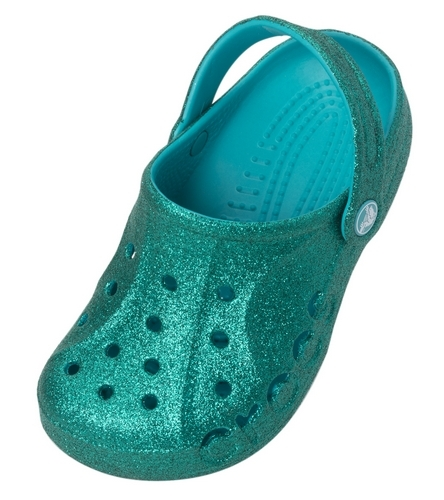 Crocs Girls' Baya Hi Glitter Clog (Toddler/ Little Kid/ Big Kid) at  SwimOutlet.com