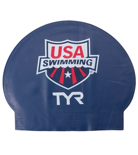 864a9b613 TYR USA Swimming Latex Swim Caps at SwimOutlet.com