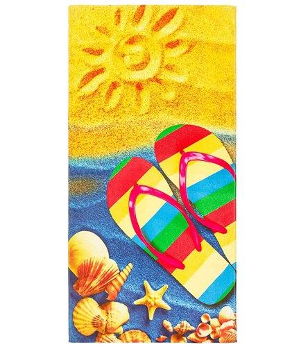 beach towel.  Dohler Sunny Beach Towel 30 x 60 at SwimOutlet com