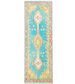 Magic Carpet Traditional Turquoise Thick Yoga Mat 70 6mm Extra Thick