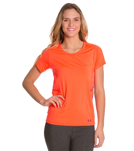 Under armour women 39 s armourvent moxey short sleeve shirt for Under armour swim shirt