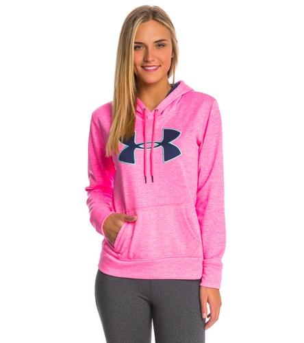 e5e4494ea Under Armour Women's Storm Armour Fleece Big Logo Twist Hoody at  YogaOutlet.com - Free Shipping