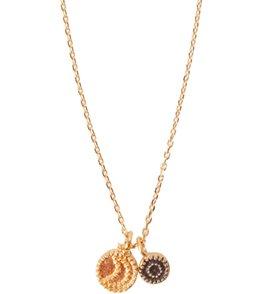 Satya Jewelry Golden Sun & Moon Necklace