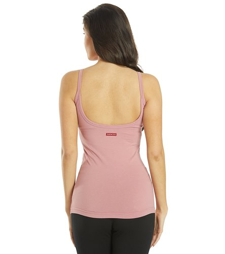 Hard Tail Scoop Back Yoga Tank Top With Bra  by Yoga Outlet