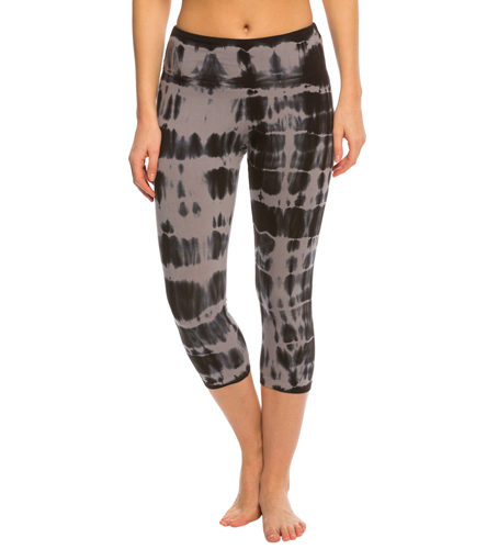 e7385a8c519bd Marika Balance Collection Printed Flat Waist Yoga Capris at YogaOutlet.com